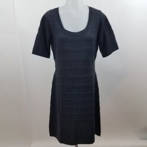 Calvin Klein dress sweater bodycon dark gray M sho